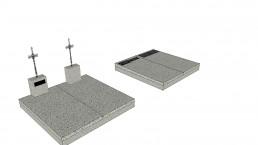 Monument funéraire en 3D